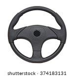 black plastic boat steering... | Shutterstock . vector #374183131