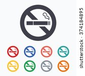 no smoking sign icon. quit... | Shutterstock .eps vector #374184895