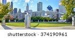 Millennium park chicago amphitheatre panorama