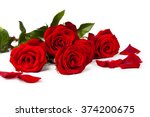 Stock photo red rose isolated on white background 374200675