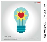 light bulb with heart inside | Shutterstock .eps vector #374205079