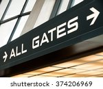 airport all gates sign with... | Shutterstock . vector #374206969