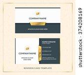 modern creative golden business ...   Shutterstock .eps vector #374208169