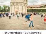 italy  pisa   tourist... | Shutterstock . vector #374209969