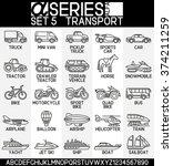set of icons  mode of transport ... | Shutterstock .eps vector #374211259