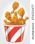 hand drawn vector illustration... | Shutterstock .eps vector #374221477