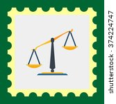 classic balance icon | Shutterstock .eps vector #374224747