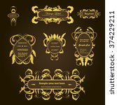 set creative vintage labels... | Shutterstock .eps vector #374229211