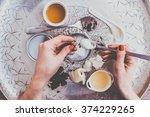 handmade cosmetic ingredients   ... | Shutterstock . vector #374229265