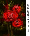roses red   stock image | Shutterstock . vector #374229301
