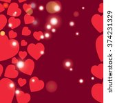 valentine pattern. seamless... | Shutterstock .eps vector #374231329
