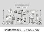 black and white line design of... | Shutterstock .eps vector #374232739