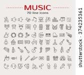 vector illustration of musical... | Shutterstock .eps vector #374235361