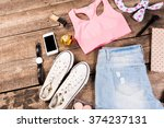 woman's casual clothes and... | Shutterstock . vector #374237131