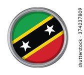 3d button flag of saint kitts...   Shutterstock .eps vector #374237809