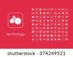 set of technology simple icons   Shutterstock .eps vector #374249521