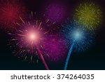 festive firework salute burst.... | Shutterstock .eps vector #374264035