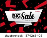 big sale banner template design | Shutterstock .eps vector #374269405