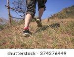 women running uphill rush going ... | Shutterstock . vector #374276449