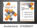 abstract vector modern flyers... | Shutterstock .eps vector #374280697