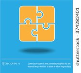 puzzle vector icon. creative... | Shutterstock .eps vector #374282401