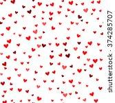 romantic red heart seamless... | Shutterstock .eps vector #374285707