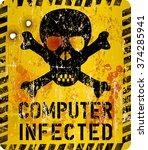 computer virus infection... | Shutterstock .eps vector #374285941