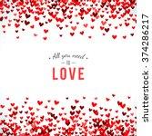 romantic red background. vector ...   Shutterstock .eps vector #374286217
