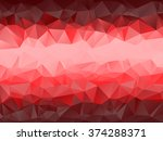red color abstract polygonal... | Shutterstock .eps vector #374288371
