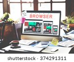 browser search engine browsing...   Shutterstock . vector #374291311
