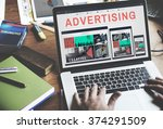advertising campaign promote... | Shutterstock . vector #374291509