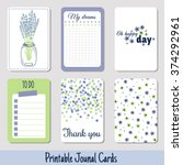 set of vintage creative cards... | Shutterstock .eps vector #374292961