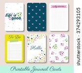 set of vintage creative cards... | Shutterstock .eps vector #374293105