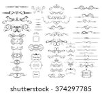 collection of vintage rulers... | Shutterstock .eps vector #374297785