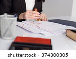 notary notarize testament at... | Shutterstock . vector #374300305