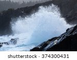 Waves Breaking On The...