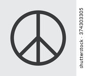 peace sign | Shutterstock .eps vector #374303305