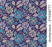 seamless floral pattern. vector ... | Shutterstock .eps vector #374308777