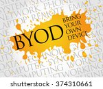 byod acronym word cloud concept | Shutterstock . vector #374310661
