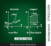 mathematics  graphical... | Shutterstock .eps vector #374311354