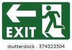 signpost  leave  enter or pass...   Shutterstock .eps vector #374323504