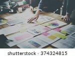 business people meeting design... | Shutterstock . vector #374324815