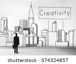 creativity design drawing ideas ... | Shutterstock . vector #374324857