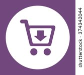 shopping cart icon vector flat...