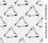 vector seamless pattern with... | Shutterstock .eps vector #374343841