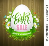 easter sale background with... | Shutterstock .eps vector #374350495