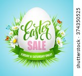 easter sale background with... | Shutterstock .eps vector #374350525
