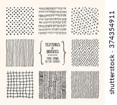 hand drawn textures and brushes.... | Shutterstock .eps vector #374354911