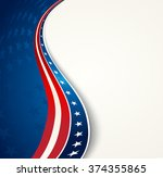 american flag  vector patriotic ... | Shutterstock .eps vector #374355865