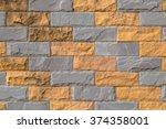 background  decorative brick... | Shutterstock . vector #374358001
